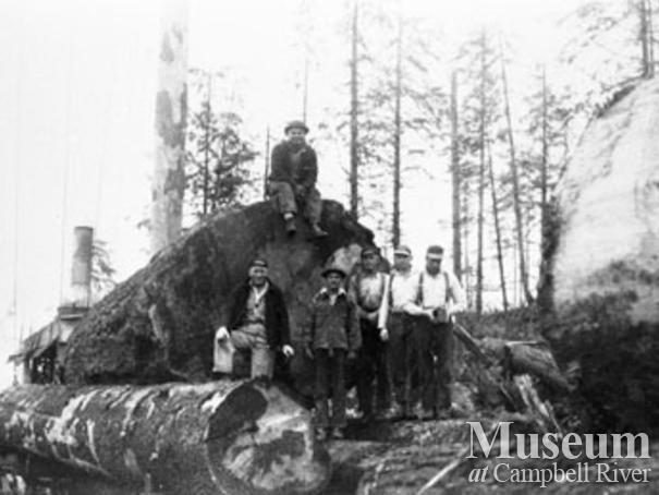 Loggers at Bloedel Stewart & Welch, Camp 4