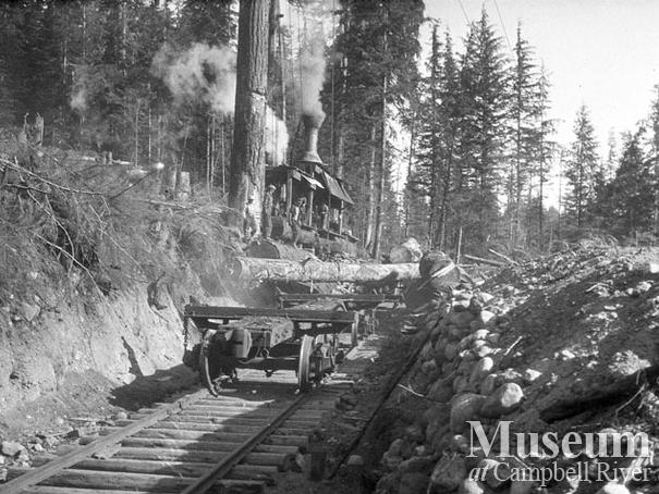 Nimpkish Timber Co. operations at Camp 9