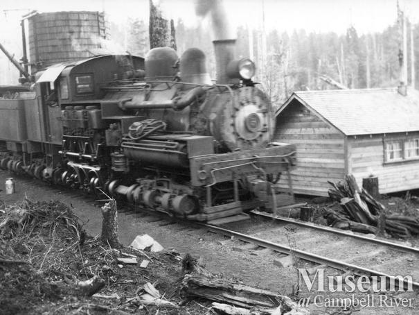 A Wood & English locomotive in the Nimpkish area