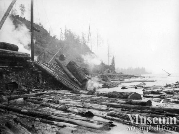 Nimpkish Timber Co. operations at Camp 8