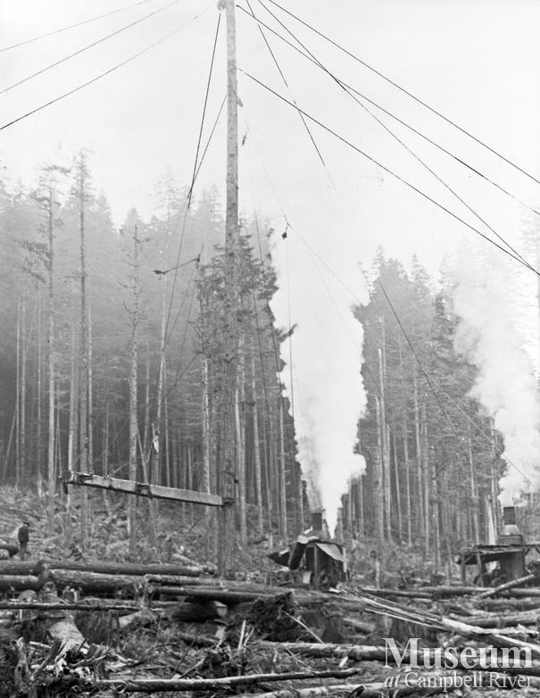 Elk Bay Timber Co. logging operations at Elk Bay