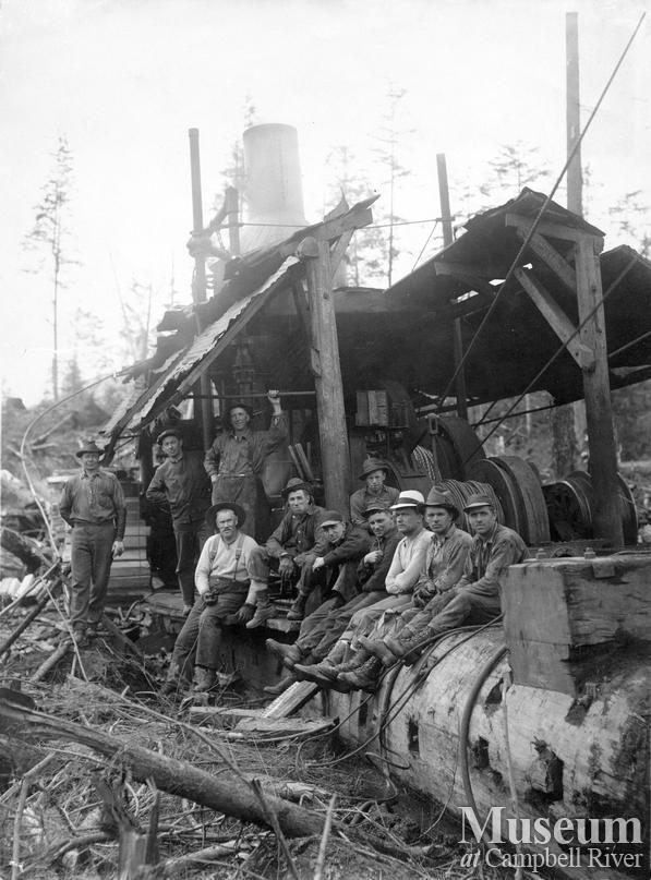 P.B. Anderson's camp at Knox Bay, Thurlow Island