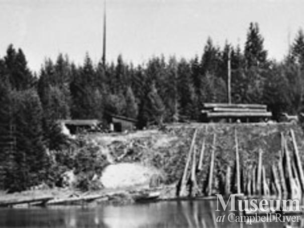Log dump on Cortes Island