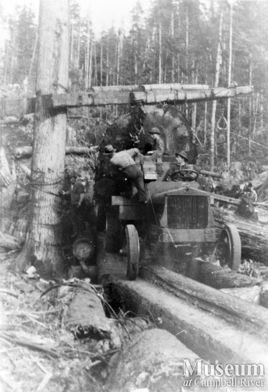 Loading a logging truck at Port Neville