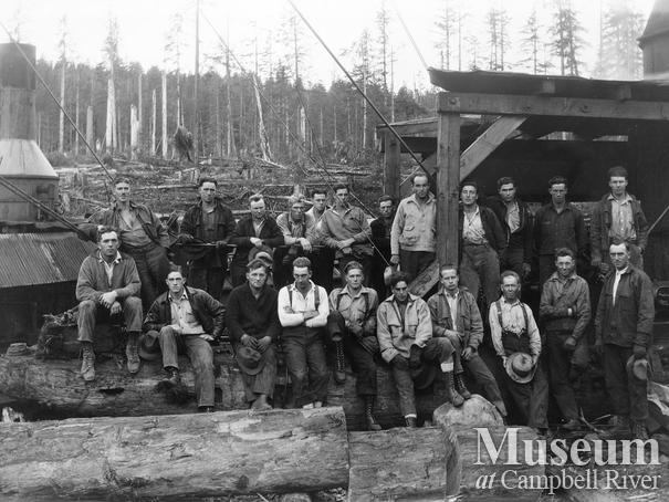 Campbell River Timber Co. yarder and loader crew