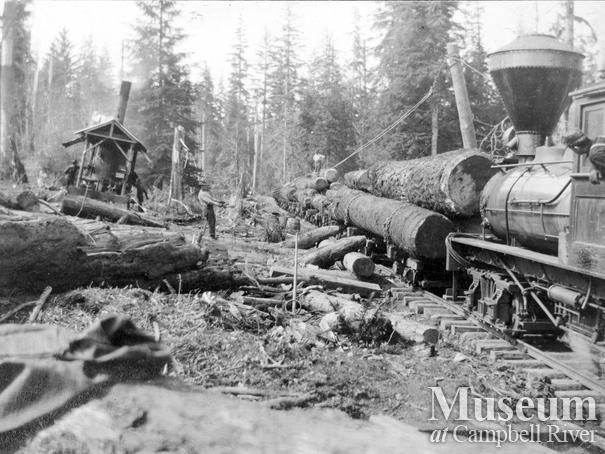 Elk River Timber Co. operations near Campbell River