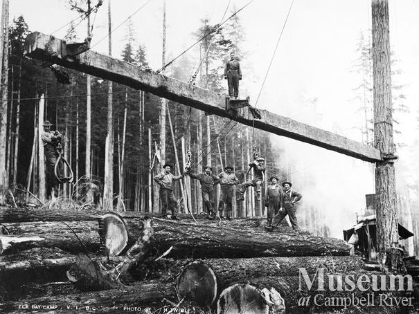 Logging crew at Elk Bay