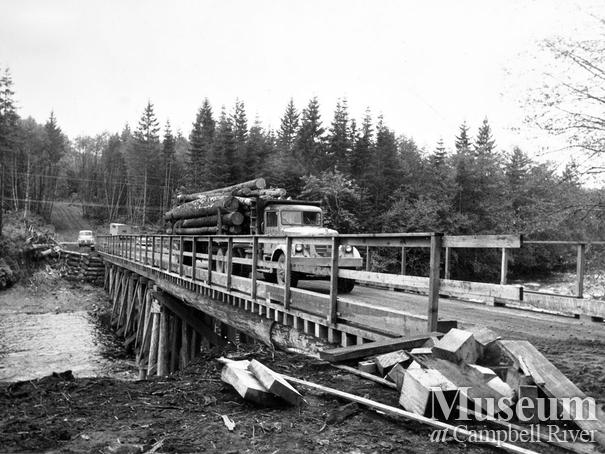 Elk River Timber Co. logging bridge