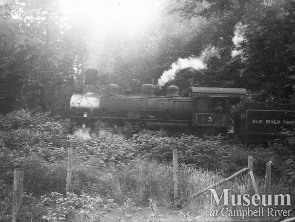 Elk River Timber Co.'s 5 spot locomotive on it's last trip