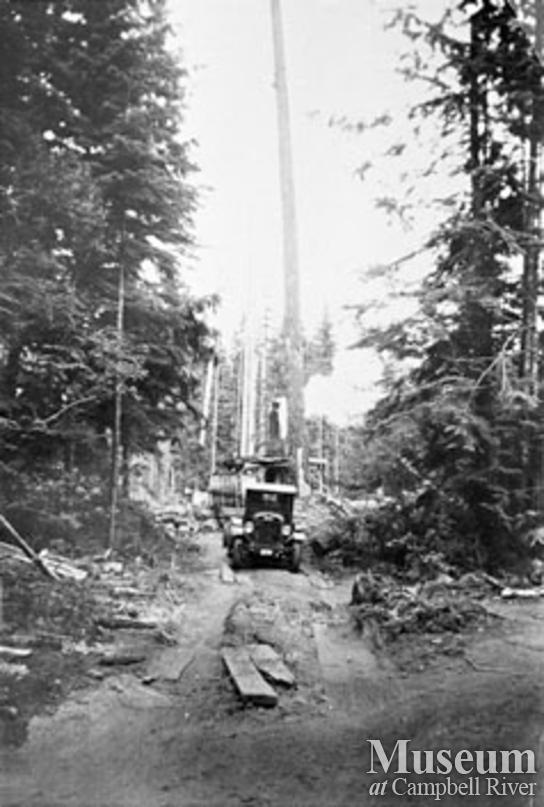 Logging operation near Quathiaski Cove, Quadra Island