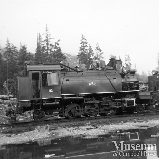 Canadian Forest Products Locomotive 112 in the Nimpkish Valley