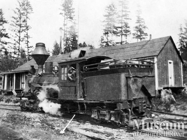 Wilson and Brady Co. locomotive on Quadra Island