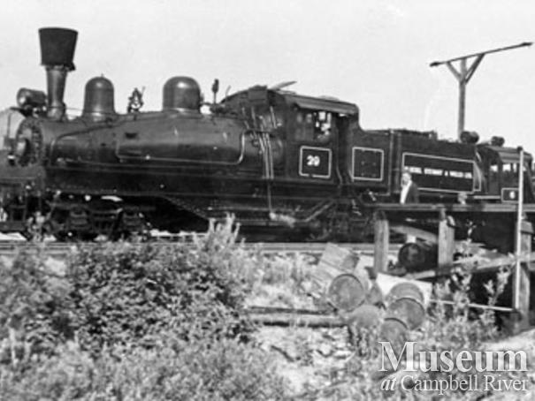 Bloedel, Stewart and Welch's #29 locomotive in Menzie's Bay
