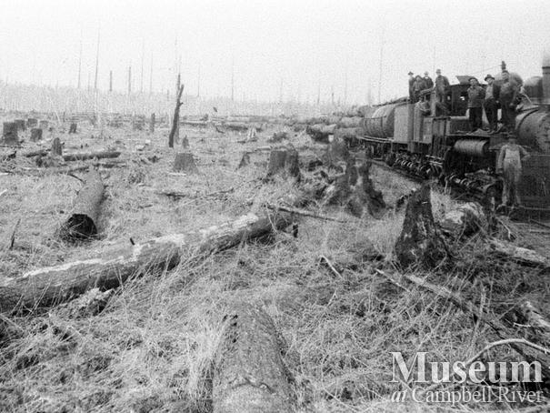 International Timber Co. mainline locomotive in the Campbell River area