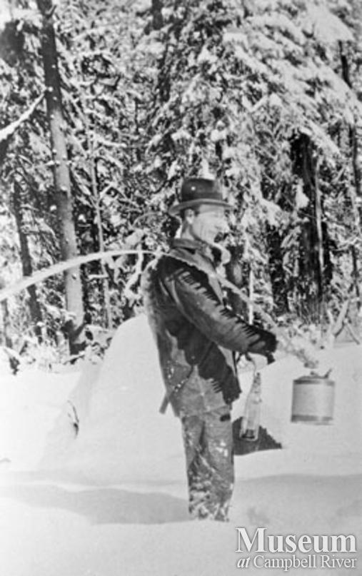 Elk River Timber co. faller, Oscar Hillgren