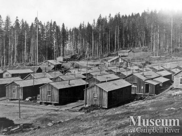 Elk River Timber Co. logging camp