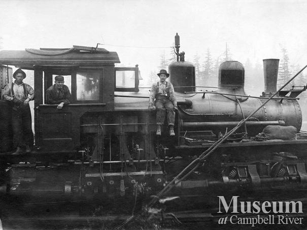 International Timber Co. locomotive near Campbell River