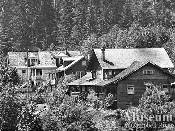 The logging camp at Rock Bay