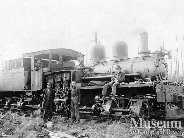 International Timber Co. locomotive and crew