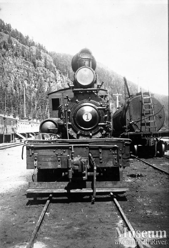 Elk River Timber Co. locomotive at Camp 9