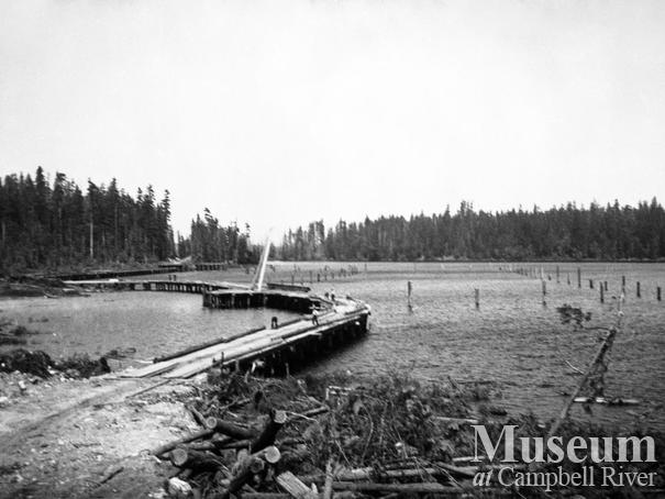 Elk River Timber Co. operations at Gooseneck Lake