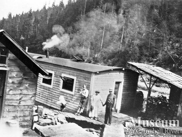 Bendickson Logging camp at Jervis Inlet