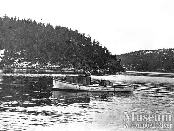 The camp boat used by Bendickson Logging