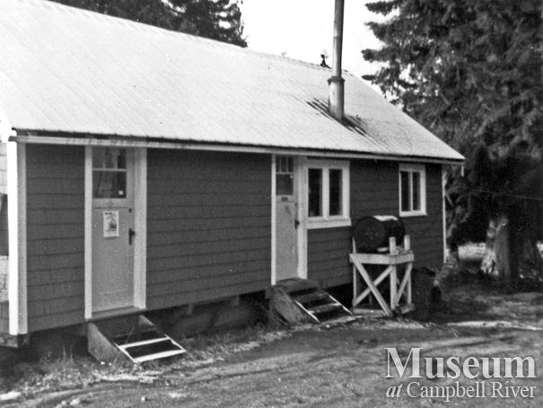 The first aid building at Bendickson Logging camp