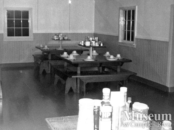Dining room at Bendickson Logging camp