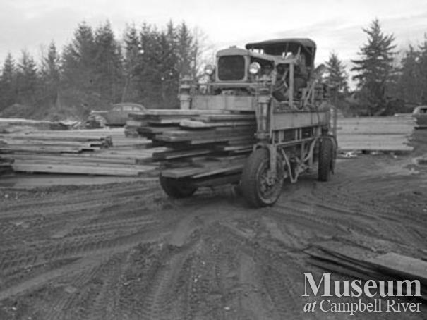 Moving lumber at Beecher Lake Lumber Co. operations