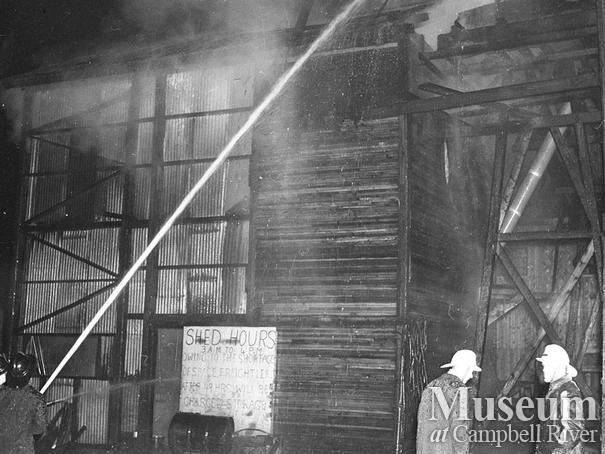 Fire at Beecher Lake Lumber Co. sawmill