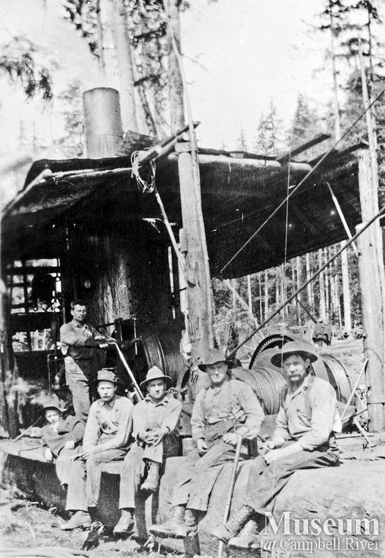 Bendickson Logging's yarding crew on Hardwicke Island