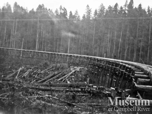Elk River Timber Co. railroad trestle