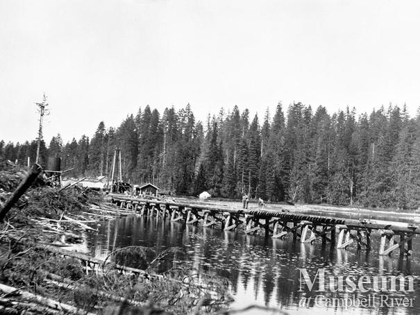 Elk River Timber co. trestle rail on Echo Lake