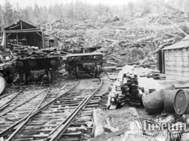 The sawmill at Bloedel, Stewart and Welch Camp 5