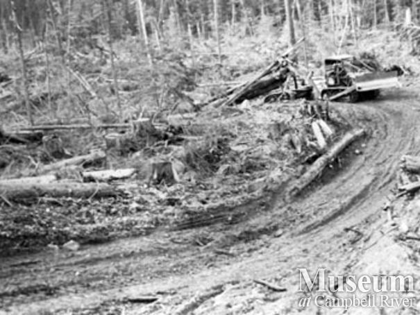 Cat logging at Bloedel, Stewart and Welch Camp 5`