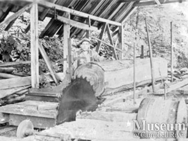 Jack Parrish's sawmill at Stuart Island