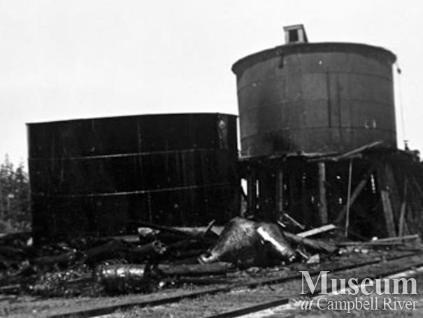 Elk River Timber Co. locomotive fuel tanks