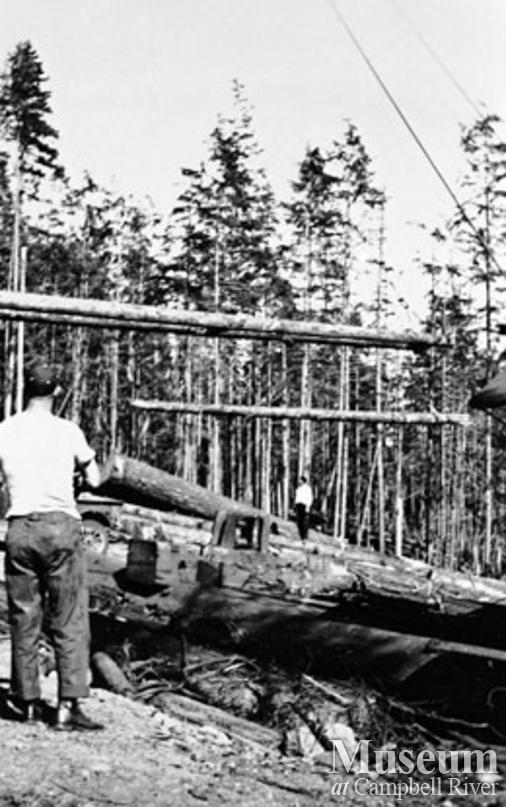 Logging operations at Iron River