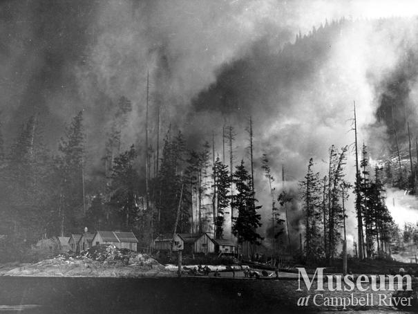 1925 Forest fire on Quadra Island