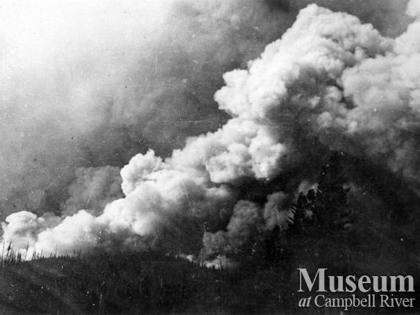 1925 Forest fire on Quadra Island