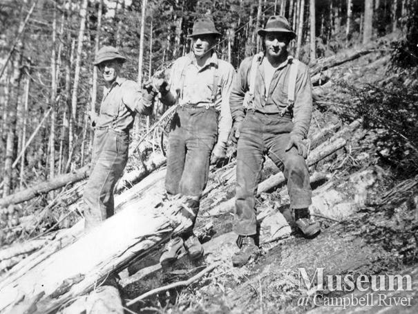 Byles and Groves logging crew Port Neville