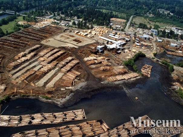 Aerial view of Raven Lumber operations