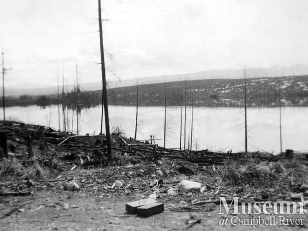 Aftermath of Sayward Fire