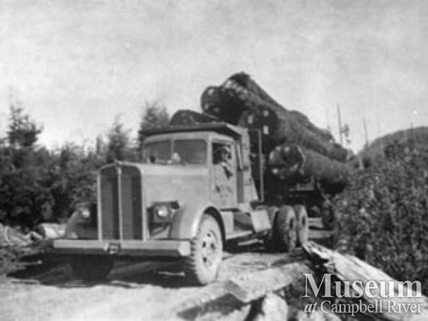 Pioneer Timber Co. logging truck