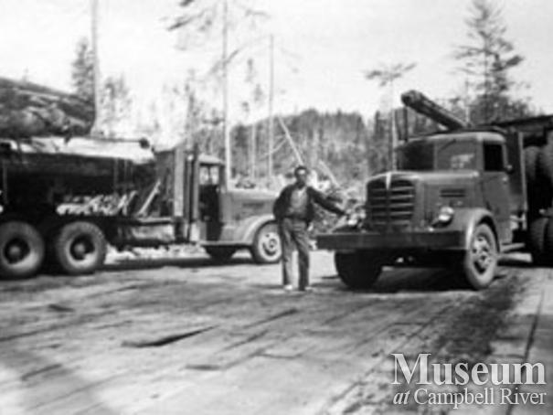 Pioneer Timber Co. logging trucks