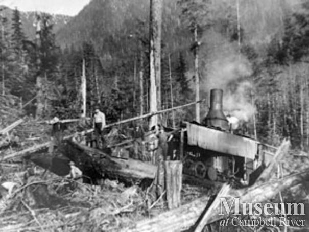 Dot Logging Co. at Knight Inlet
