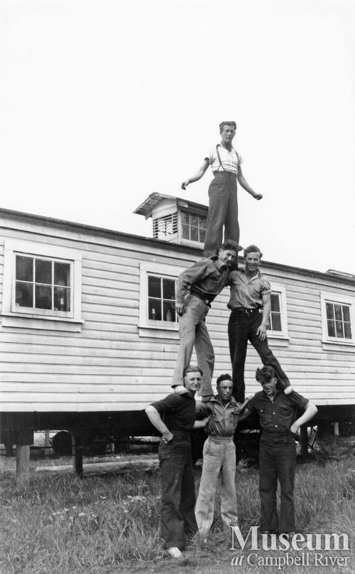 Elk River Timber Co. crew at camp