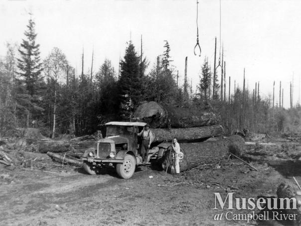 Elk River Timber Co. truck logging