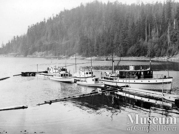 Wharf at B.C. Forest Service Station